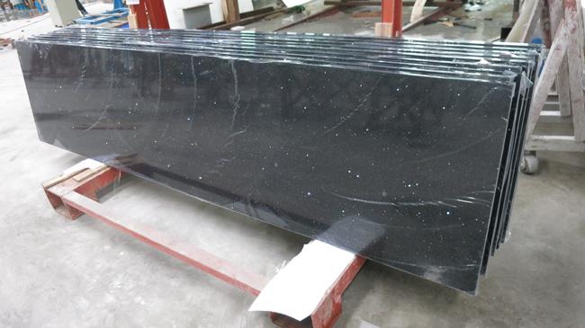 Incroyable Black Galaxy Quartz Countertop Countertop