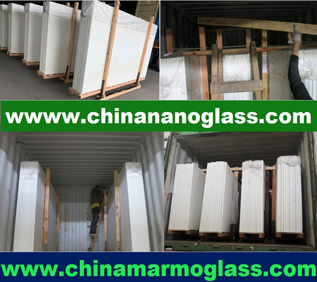 White glass nanoglass slab