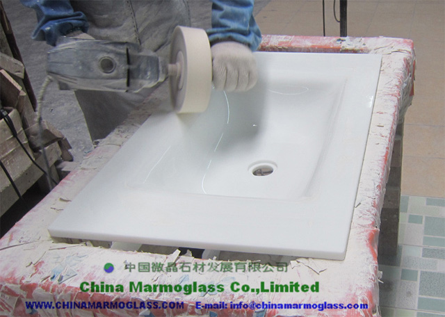 Crystallized Glass Stone Lavabo